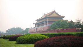 Place Tiananmen, Pékin Chine - porte de paix merveilleuse La Place Tiananmen est à angle droit de ville centrale dans Pékin Pékin images stock