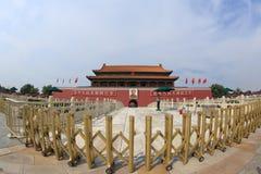 Place Tiananmen près de Cité interdite Photos libres de droits