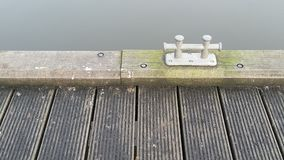 Place to moor. Mooring by lake Royalty Free Stock Photography