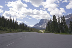 Place to park on icefield parkway Stock Photos