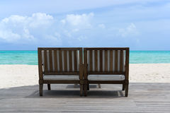 Place to relax on the beach Stock Photos