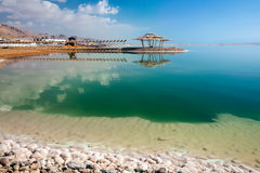 A place to relax at the Dead Sea. Royalty Free Stock Photos