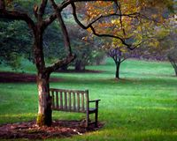 A place to Sit with painted effect. A place to sit in Highlands, NC stock photography
