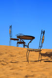 Place to sit on the sand dune Stock Images