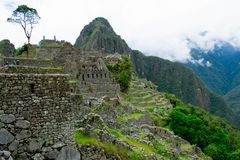 Machu Picchu, old ruin, Peru, 02/08/2019 royalty free stock photography