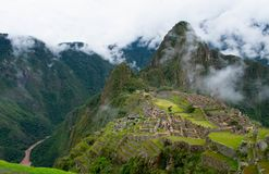 Pre colombiana city, Machu Picchu, Peru, 02/08/2019 royalty free stock images