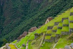 Pre comlombian city, lost city, Machu Picchu, Peru, 02/08/2019 royalty free stock images