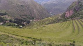 Pisac, archaeological site, Peru, 02/07/2019 royalty free stock images