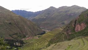 Archaeological site, sacred valley, Pisac, Peru, 02/07/2019 royalty free stock photography
