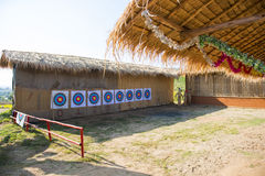 A place for traditional archery practice Stock Images