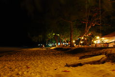 Night beach Koh Kradan in Krabi south of Thailand. Romantic night scene of Koh Kradan island.this place is in south far from Bangkok about 700 kms.nice place and Royalty Free Stock Photography