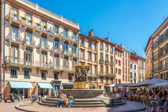 In the place of Trinite in Toulouse. TOULOUSE,FRANCE - AUGUST 30,2016 - In the place of Trinite in Toulouse. Toulouse is the capital city of the southwestern Royalty Free Stock Images