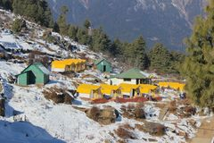 place is in Uttarakhand in India called AULI royalty free stock photo