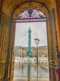 Place Vendôme. Place Vendome from gate Royalty Free Stock Photos