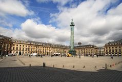 Place Vendome Stock Photography