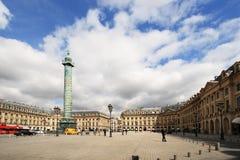 Place Vendome. PARIS - April 04: Place Vendome on April 04, 2011 in Paris. Place Vendome is one of the famous landmarks of Paris Stock Photography