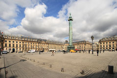 Place Vendome on April 04, 2011 in Paris. Stock Image