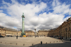 Place Vendome on April 04, 2011 in Paris. Stock Photo