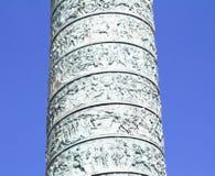 The Place Vendome Column. Details of The Place Vendome Column in Paris Royalty Free Stock Photo