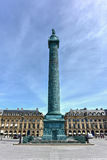 Place Vendome Column - Paris, France Stock Image
