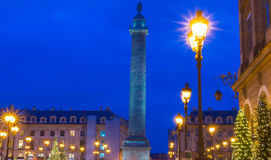 The place Vendome at night, Paris, France. Stock Photo