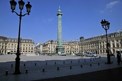 The Place Vendome. Paris. The Place Vendome in Paris is famous for luxury jewelries Stock Photography