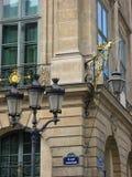 Place Vendome Paris. Detail of the Place Vendome in Paris Royalty Free Stock Photos