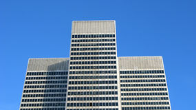 Place ville marie. Modern, tall buildings against blue sky, Montreal, Canada stock photography