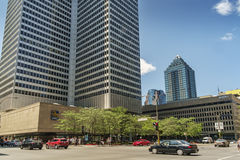 Place Ville Marie( as seen from Robert Bourassa boul.) Royalty Free Stock Photography