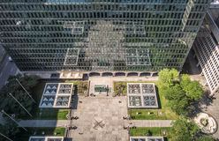 Place Ville Marie belvedere view from the 19th floor Royalty Free Stock Image
