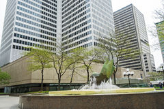 Place Ville Marie(fountain) stock photo
