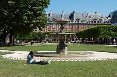 Place of Vosges in Paris Stock Photos