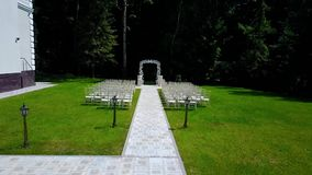 Place for wedding registration stock video