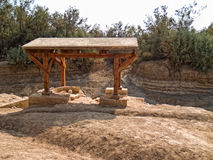 Place where Jesus was baptized in Bethany, Jordan Stock Photo