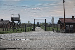 The place where the prisoners got off the train. Barak Canada. S Stock Photography