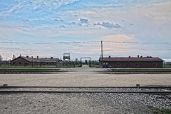 The place where the prisoners got off the train. Barak Canada. S Royalty Free Stock Photos