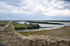 The place where the Toima River flows into the Kama. City Elabuga. Tatarstan. stock photos