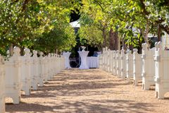 A place where weddings are held stock photography