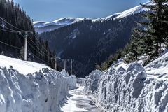 Road of snow! royalty free stock image