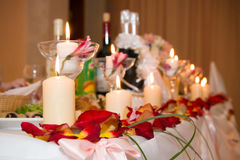 Place on the white festive table Royalty Free Stock Images