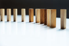 Place a wooden block lines Royalty Free Stock Photo