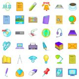Place of work icons set, cartoon style. Place of work icons set. Cartoon set of 36 place of work vector icons for web isolated on white background Royalty Free Stock Photography