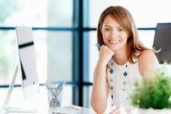 That is a place for work and success Stock Images