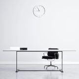 Place of work. White office interior with place of work Royalty Free Stock Photography