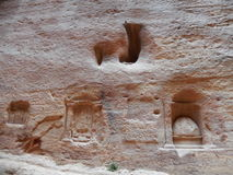 PLACE OF WORSHIP IN ANCIENT PETRA, JORDAN Royalty Free Stock Images