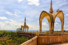 Place of worship of Buddhists The temple is a Buddhist. Wat Pra That Pha Son Keaw buddism temple in Petchaboon, Thailand Stock Image