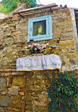 Place of worship with madonna statue Stock Image