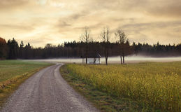 Place of worship in rural landscape with little chapel Royalty Free Stock Photos