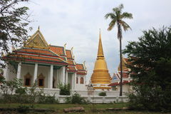 Place of worship at Wat Barommavong Eitsara vararam Royalty Free Stock Photography