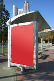 Place your ad on bus stop board. (With clipping paths Royalty Free Stock Images